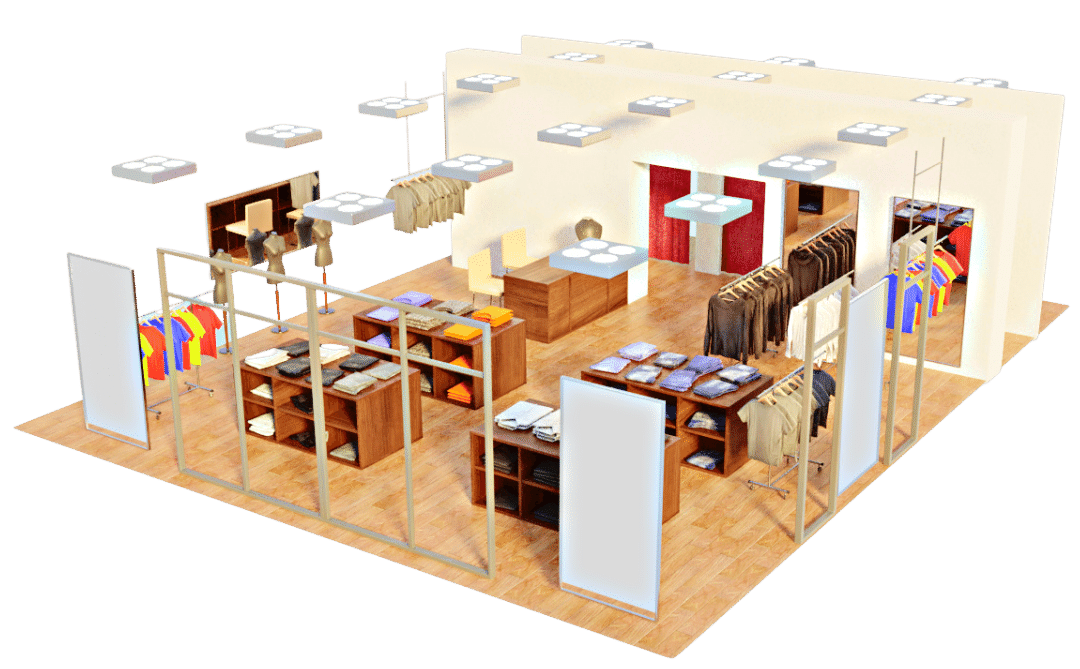 Retail shop 3D ISO
